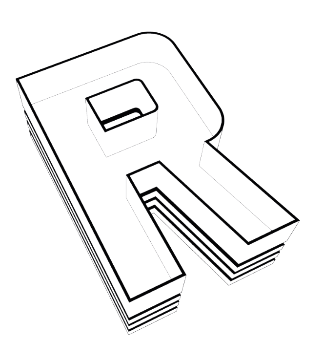 R logo by Michael Laird Architects